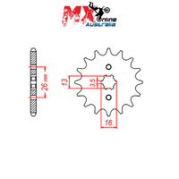 MTX Front Sprocket 14T for Suzuki GT50 K 1977-1980 10-257-14
