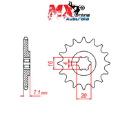 MTX Front Sprocket 11T 10-290-11