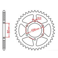 MTX Rear Sprocket 33T Kawasaki GPZ750 UNITRACK (ZX750A) 1983-1987 11-098-33