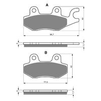 Goldfren Brake Pads GF009K5