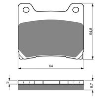 Goldfren Brake Pads GF015S3