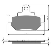 Goldfren Brake Pads GF030S3