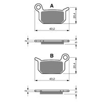 Goldfren Rear Brake Pads LEM RX65 2005-2009 GF190K5