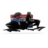 Polisport Plastics Kit BLACK 75-901-44