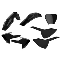 Polisport Plastics Kit BLACK 75-906-88