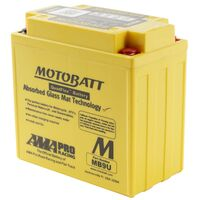 Motobatt AGM Battery Aprilia 125 SPORT CITY CUBE 2008
