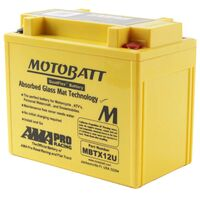 Motobatt AGM Battery Aprilia 500 SCARABEO LIGHT, IE 2009-2013