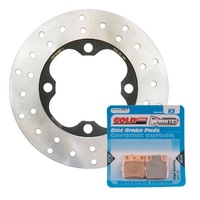 Brake Disc and Pad Kit Front Honda TRX420FA 4WD RANCHER 2009-2013 Solid
