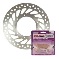 Brake Disc and Pad Kit Front Honda CRF250X 2004-2016 Solid