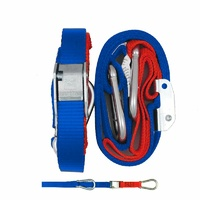 GORILLAS GRIP TIE DOWN 25MM SNAP & HOOK BLUE/RED LOOP